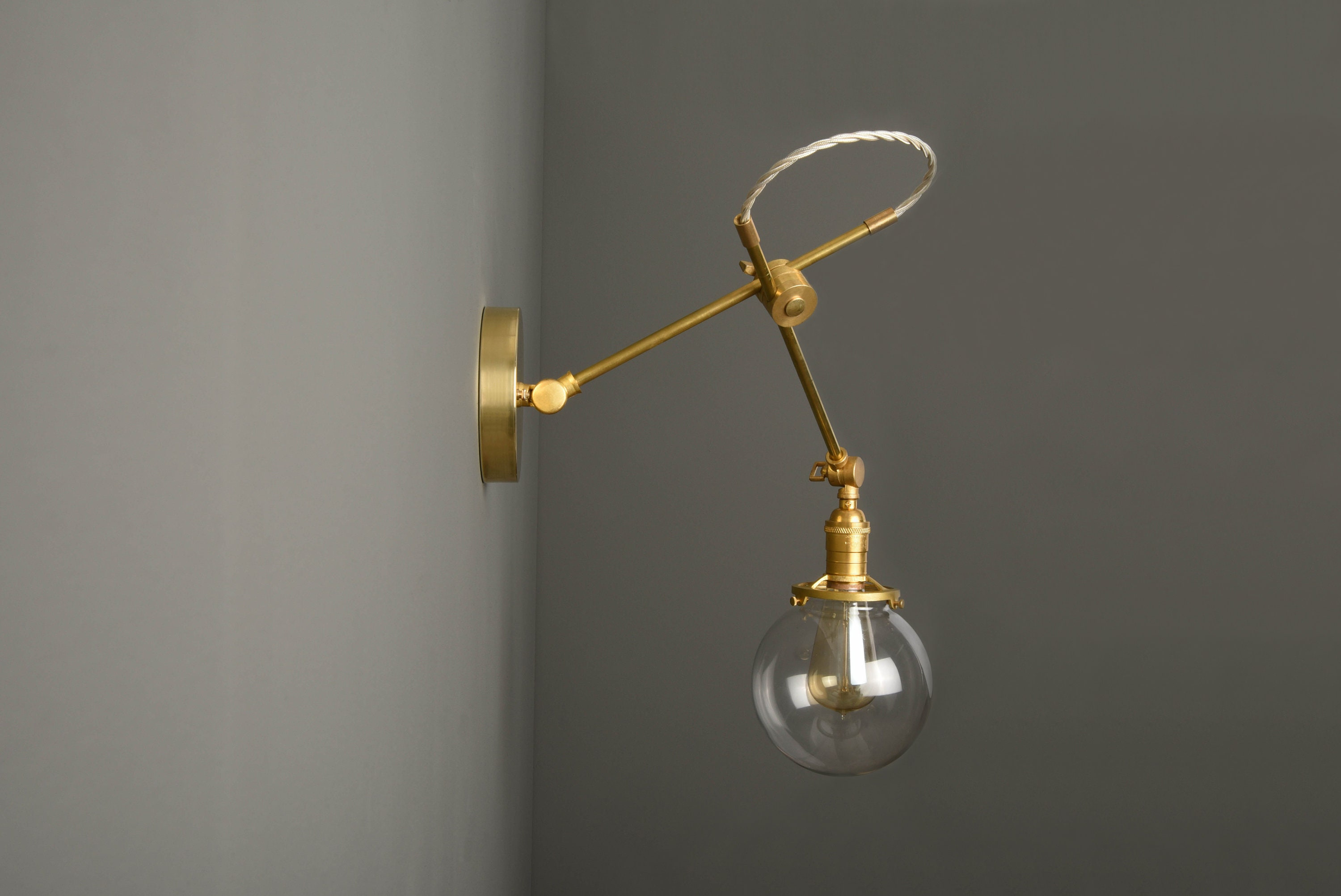 Adjustable Wall Sconce Industrial Wall Light Gold