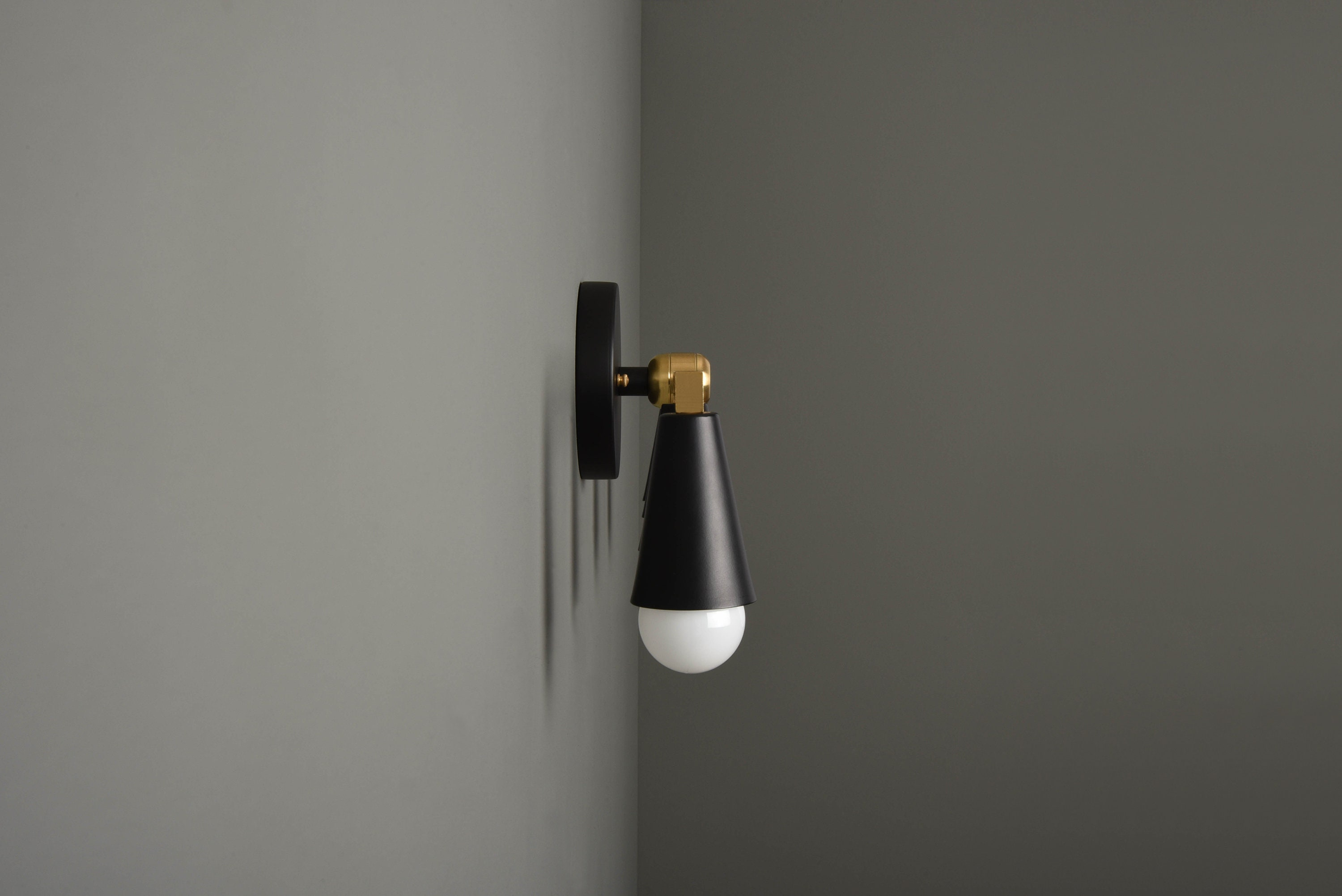 Industrial Wall Sconce Modern Wall Light Black Amp Brass