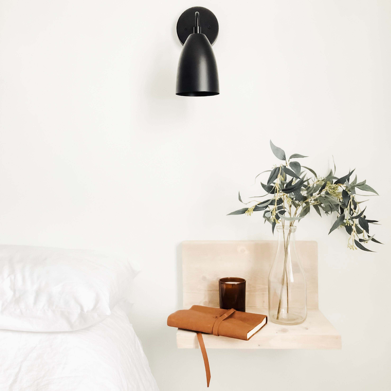 Mid Century Light Modern Wall Sconce Matte Black