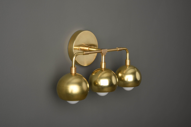 Gold Wall Sconce Modern Vanity Light Mid Century