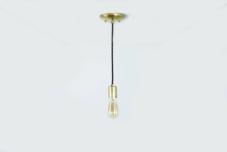 sale in stock gold industrial pendant light bare bulb socket brass