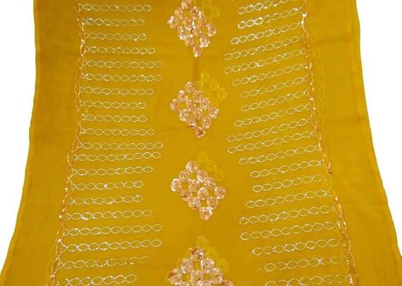 58f84954da8a Sequins Vintage indiennes Dupatta longue écharpe à la main en   Etsy