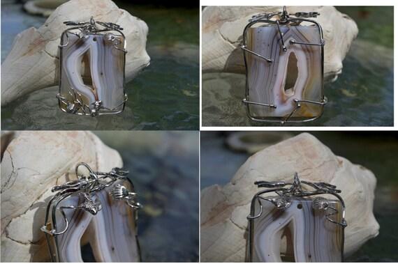 Pré-soudé wrapping en fil avec la la avec décoration de l'herbe/shell/poisson de mer. Conception originale et nouvelle arrivée! En plaqué or. Facile à travailler avec!! ec9756