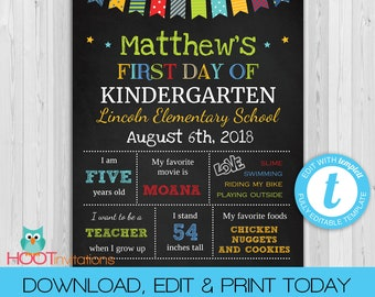Kindergarten Poster Etsy