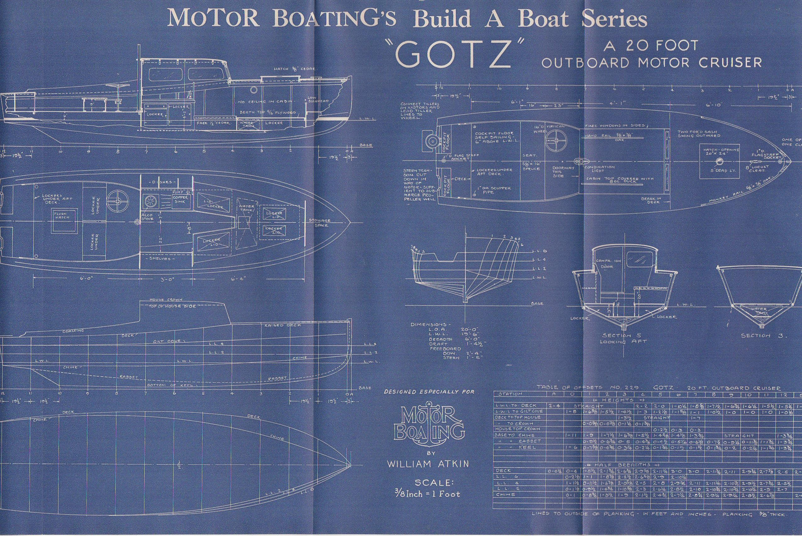 Vintage motor boat ship blueprint c1940s motor cruiser nautical art vintage motor boat ship blueprint c1940s motor cruiser nautical art urban industrial decor blue print blueprint art malvernweather