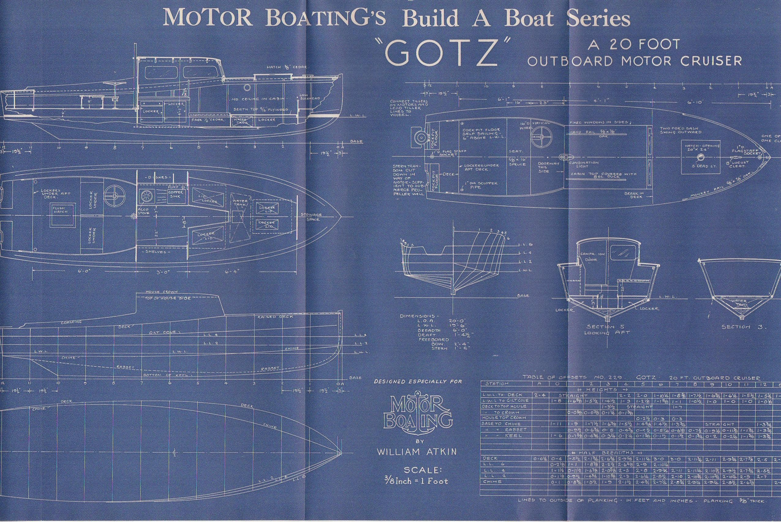 Vintage motor boat ship blueprint c1940s motor cruiser nautical art vintage motor boat ship blueprint c1940s motor cruiser nautical art urban industrial decor blue print blueprint art malvernweather Gallery