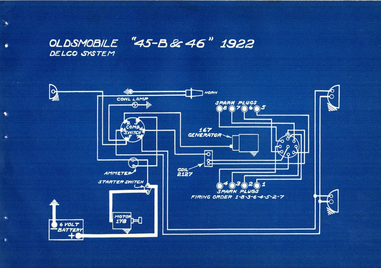 1927 Antique Blueprint Auto Car Oldsmobile Engineering Wiring Floor Lamp Rewire Diagram Mechanical Urban Industrial Decor Vintage Print