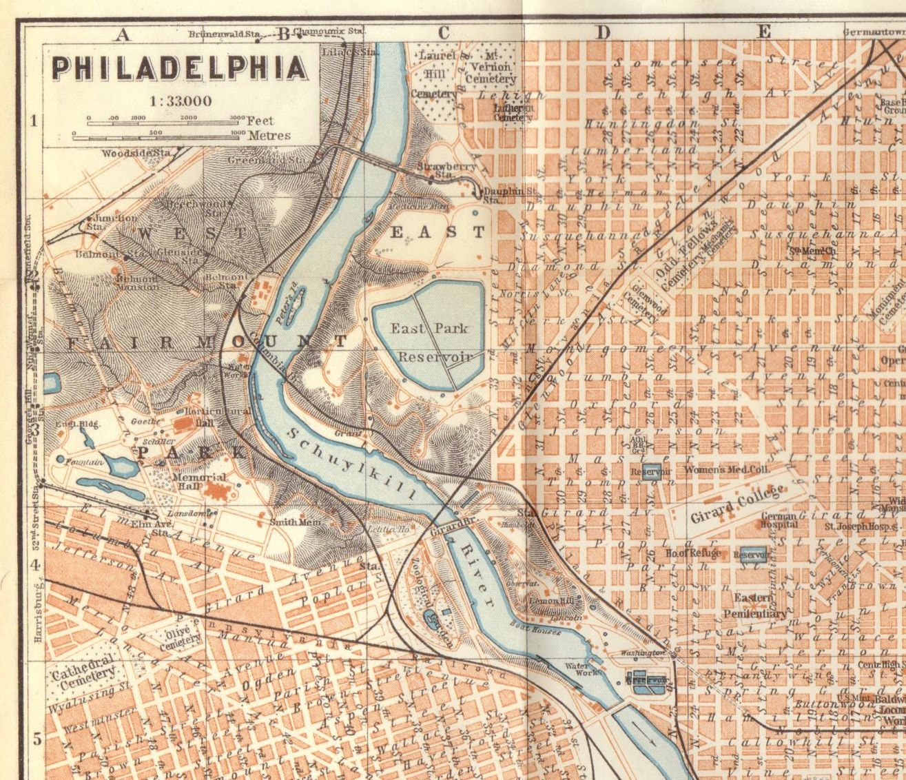 This is a graphic of Printable Map of Philadelphia intended for transportation