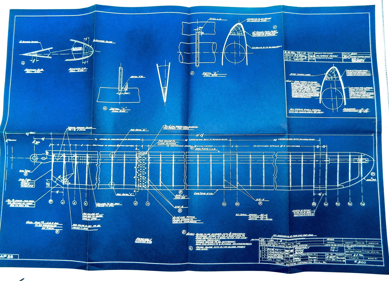 Large 1938 antique blueprint vintage airplane blueprint aircraft large 1938 antique blueprint vintage airplane blueprint aircraft blueprint plane urban industrial decor antique airplane print aviation art malvernweather Images