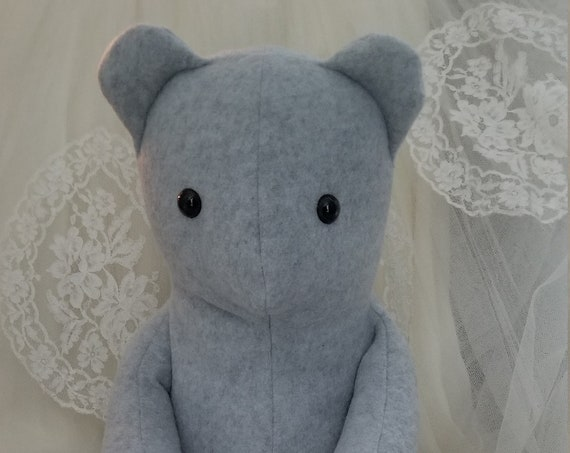 Soft Gray Bear Stuffed Animal