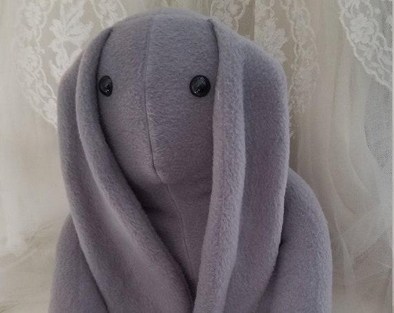 Long Ear Gray Bunny Stuffed Animal