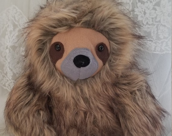 Wild Brown Fur Sloth Stuffed Animal