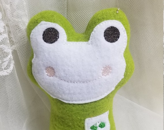 Smiling Frog Stuffed Animal for Gripping