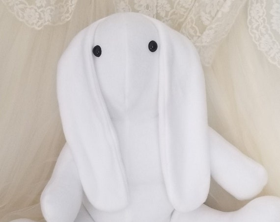 Long Ear White Bunny Stuffed Animal