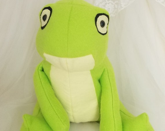 Green Frog Stuffed Animal