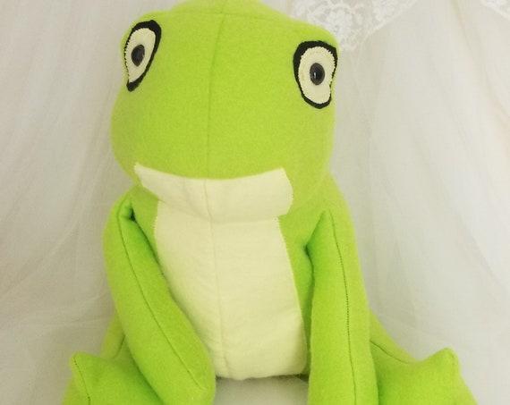 Green Frog Stuffed Animal