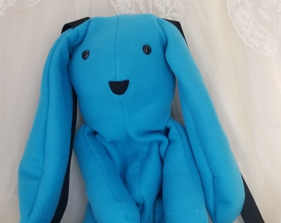 Neon Blue Bunny Backpack