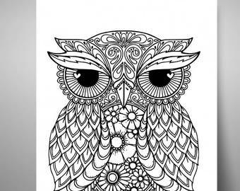 Owl Mandala Svg Etsy