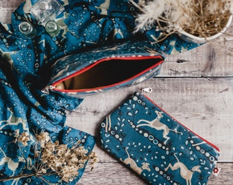Whippet Oilcloth Purse /Make Up Purse / Pencil case/ Whippet/ Purse / Greyhound / Lurcher / Hounds / phone/ cosmetics purse /zipped pouch