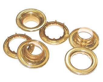 N2-6-NICKEL Grommets /& Spur Washers size 6. 12 QTY-Osborne-No 13156