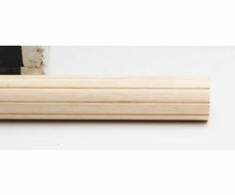 # 59306091 Kirsch Wood Trends Classics Fluted 3 Drapery Pole Unfinished 6 FT