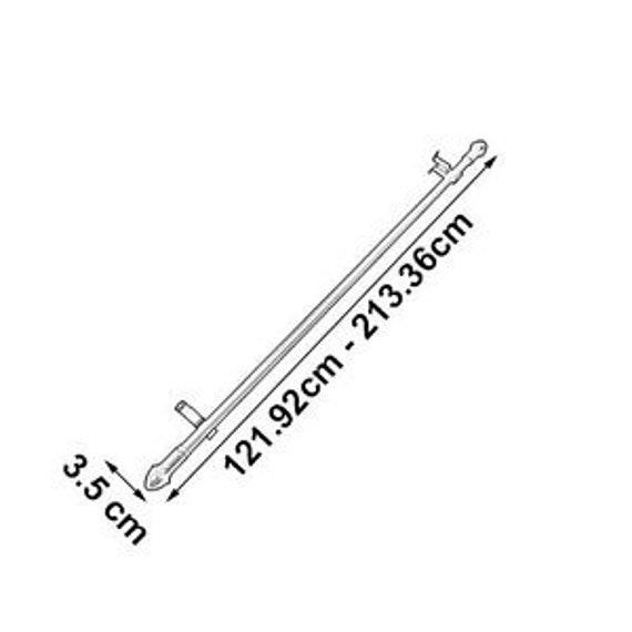 Graber 7//16-Inch Round Cafe Curtain Rod 84 to120-Inch Width Brass