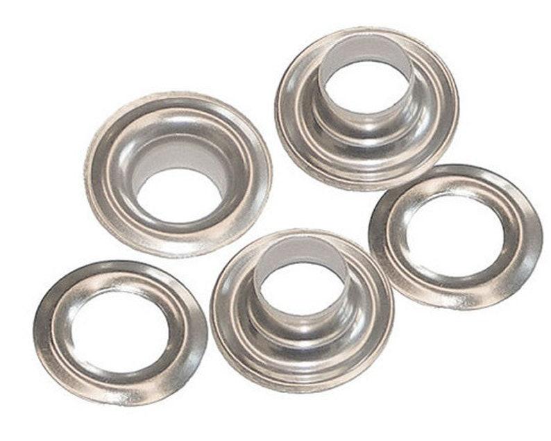 "1//4/"" Hole C.S Osborne 25 Sets Nickel Grommets /& Plain Washers #N1-0"