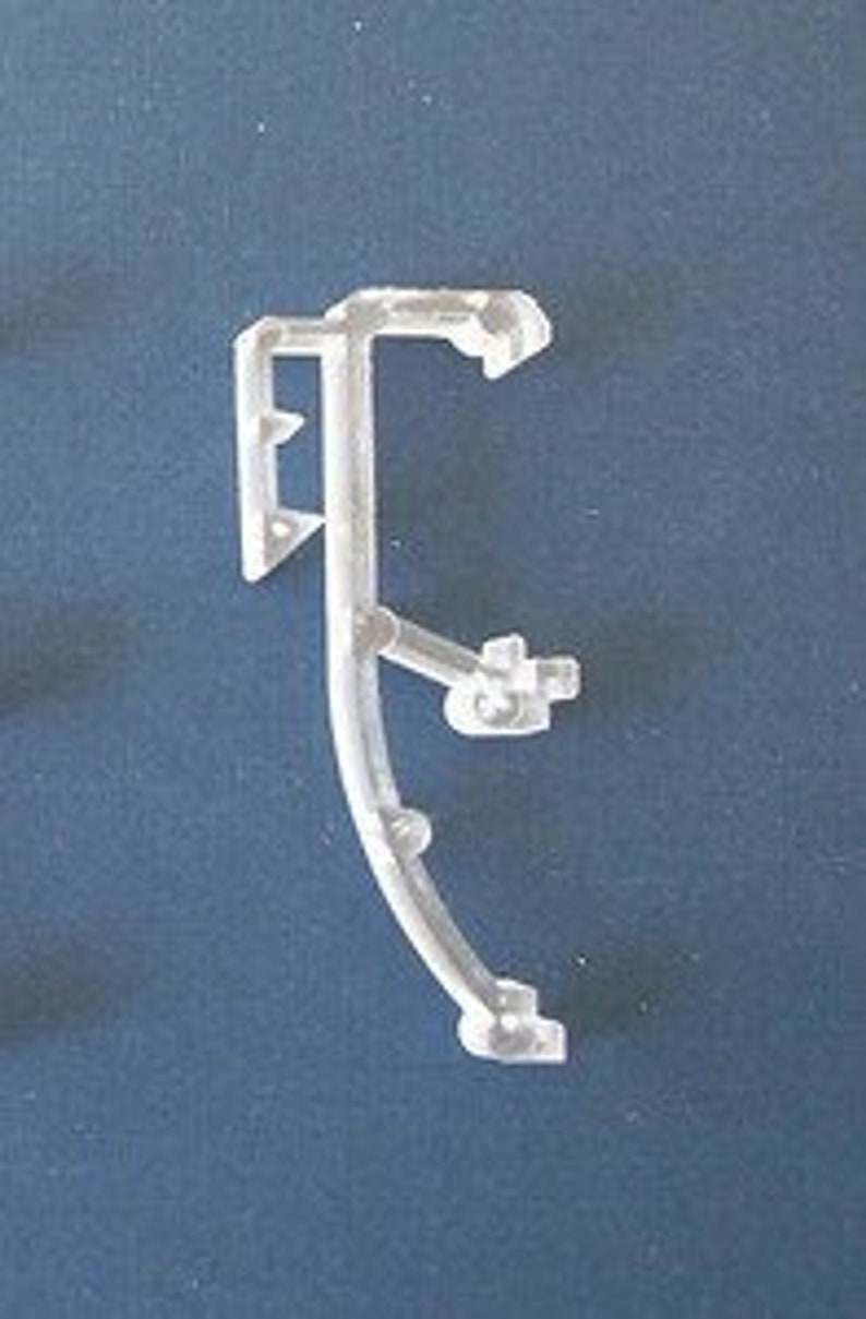 Hook Style with PINS and Screws Amazing Drapery Hardware 2 Pair:Clear Mini Blind Hold-Downs