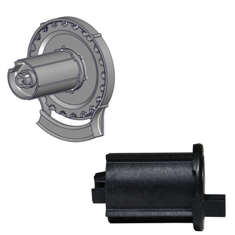 Rollease R24-1 12\u00a0exterior Roller Shade Clutch\u00a0\u00a0/& End Pin  Set in Black