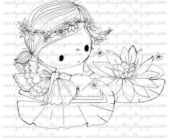 Lily pad fairy