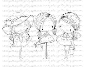 3 kleine meisjes van de zomer