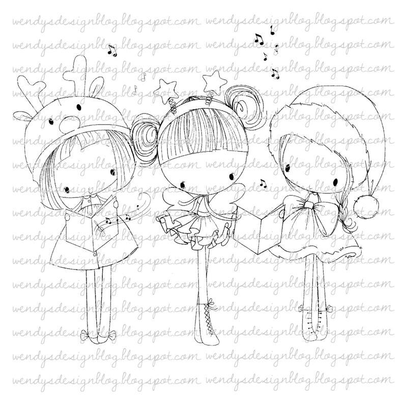 3 Little Christmas Girls image 0