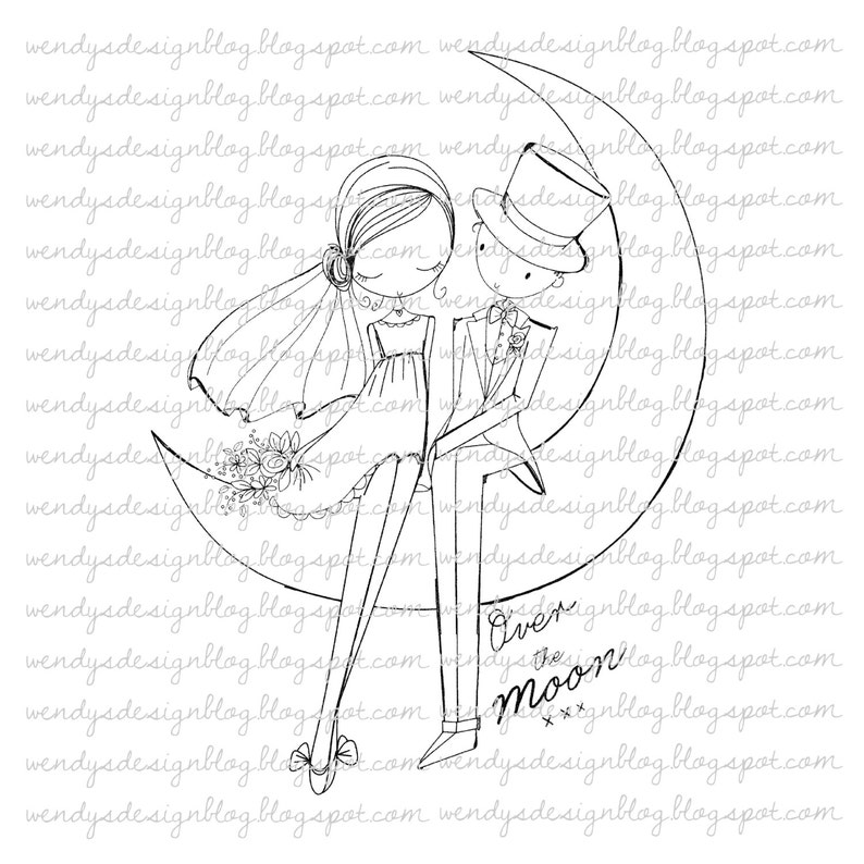 Rezultat iskanja slik za Over The Moon all dressed up stamps