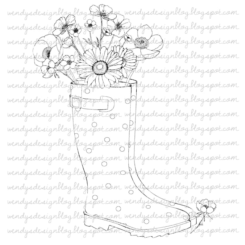 Floral Wellies image 0