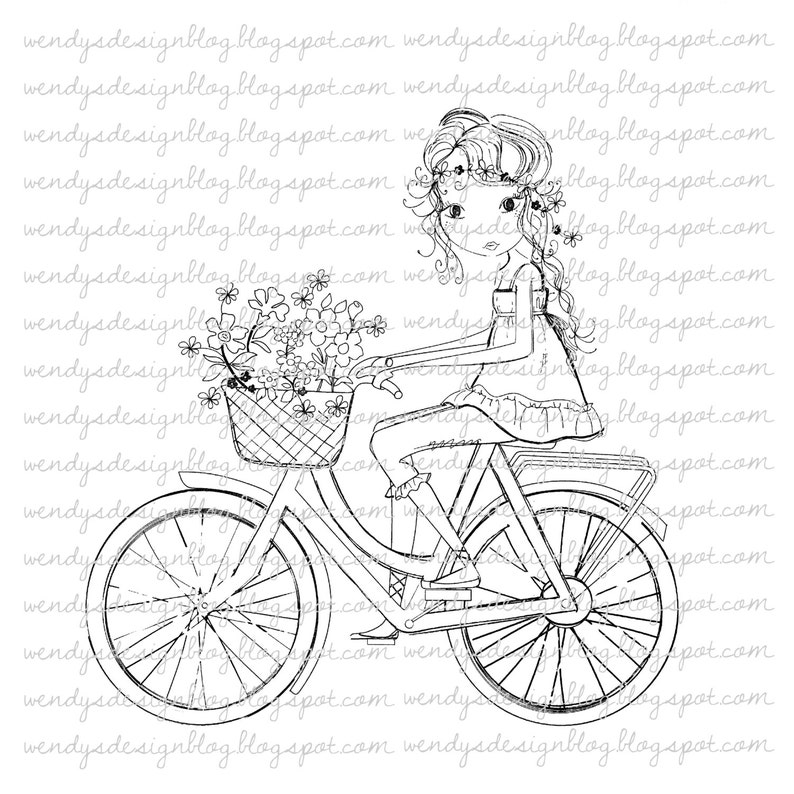 Girl On A bike image 0