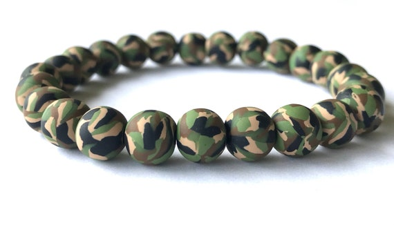 Men/'s mixed color retro style adjustable Ceramic clay bead bracelet