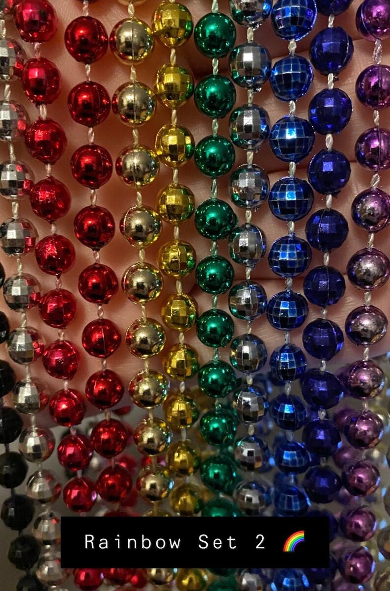 1 DZN 12 Mardi Gras Beads Necklace Round 33 Strands