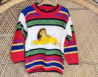 Colored Lion Head Casual Faith Mens Bless Sweatershirt Round Neck Sweater
