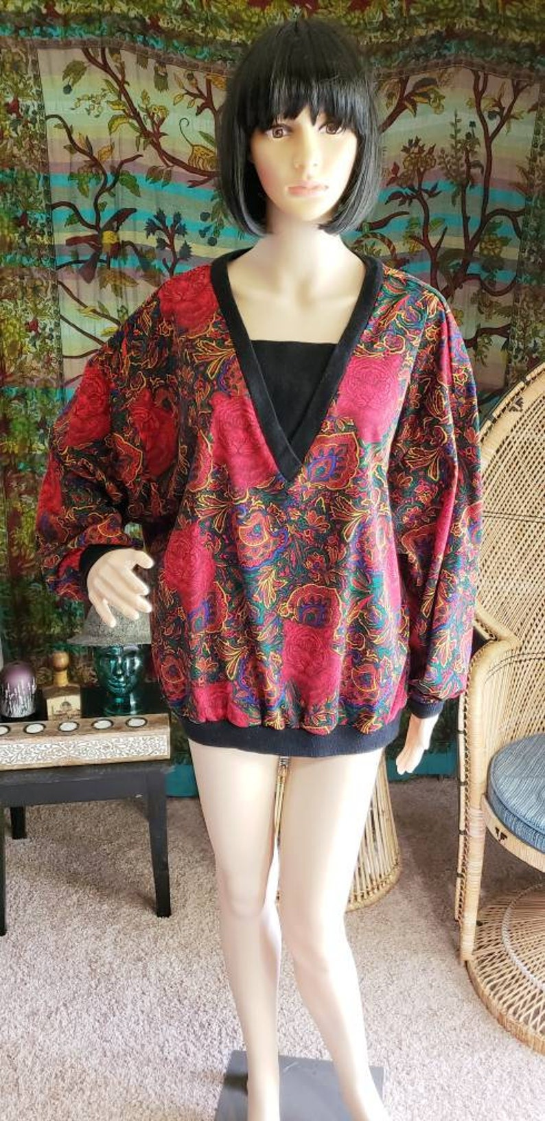 Wild Cat Shirt Women/'s Tiger Shirt 80s Tiger Jungle Top by Top Notch 80s Tiger Top Red Tiger Vintage Tiger Blouse Top Notch Top LG