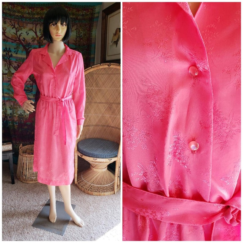 ea9e4d5a086 70 s Pink JCPenney Fashions Dress Bubble Gum Pink Dress