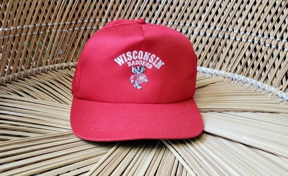 Vintage Wisconsin Badgers Hat, Wisconsin Badgers B
