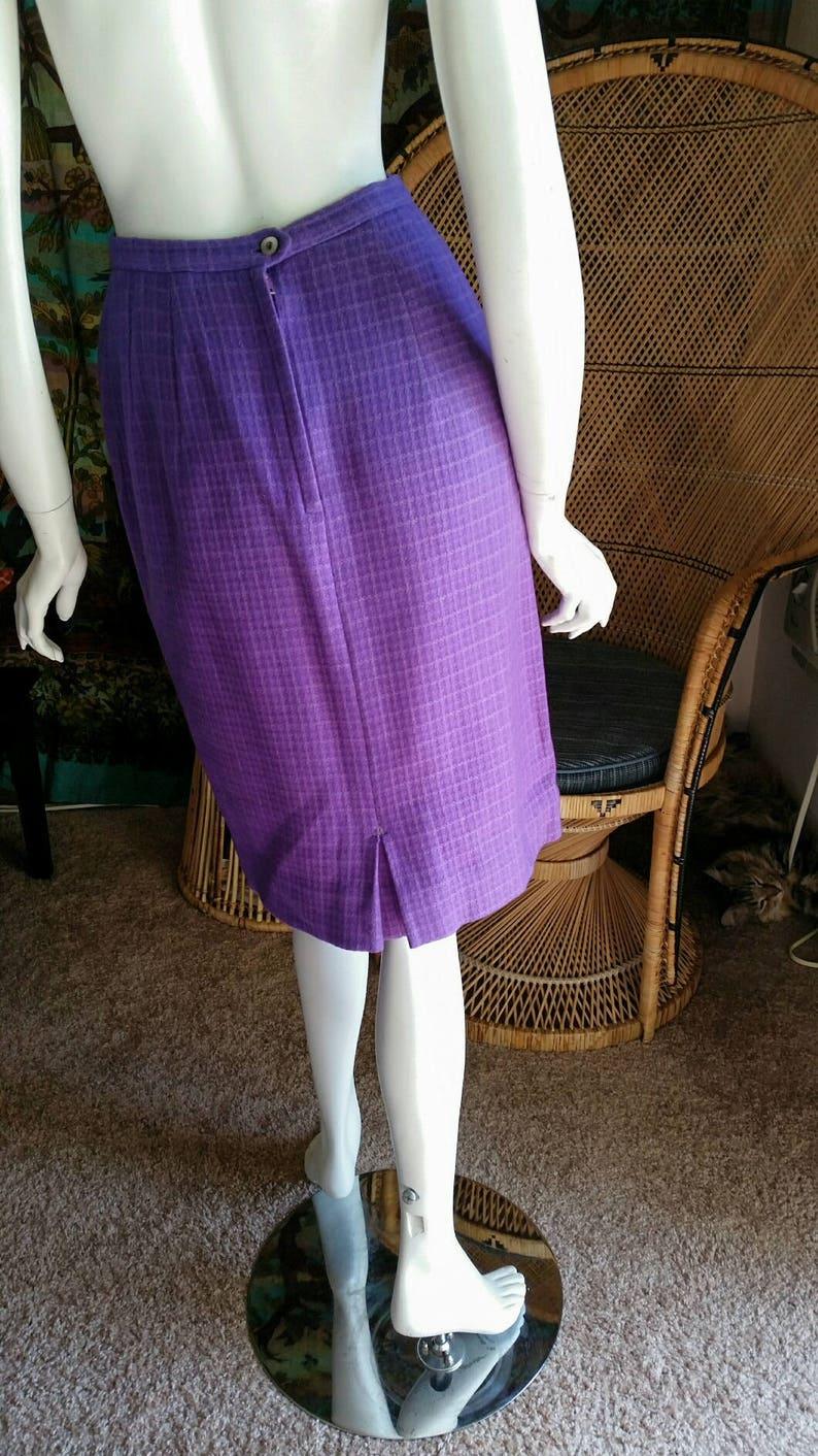 Purple Wool Blend Pencil Skirt Purple Skirt CLEARANCE 60s Purple Pencil Skirt Vintage Skirt SM Handmade Vintage Pencil Skirt