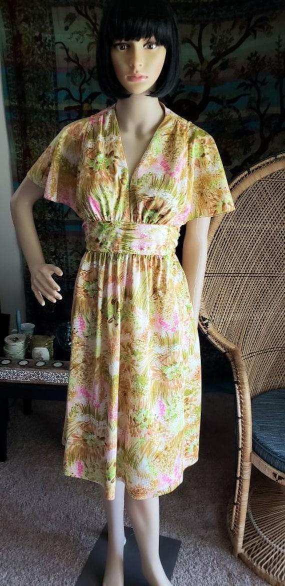 60s Floral Liberty House By Lilia Honolulu Dress,