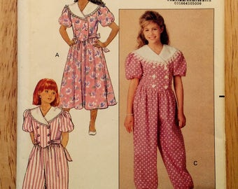 f35e0424be0 1991 girls  jumpsuit sewing pattern