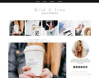 Blogger Template - Fashion Blog Template - Blogger Template Responsive - Blogger Template Minimal