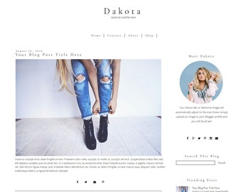 Blogger Template - Minimal Blog Template - Modern Blogger Template - Simple Blogger Template - Mobile Responsive