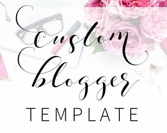 Custom Blogger Design| Feminine Custom Blog Design | Custom Blog Template | Blogspot Blog Design