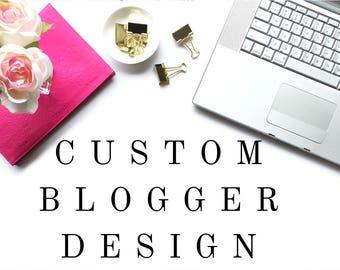 Custom Blogger Design | Feminine Custom Blog Design Blogger | Custom Blog Template | Blogspot Blog Design