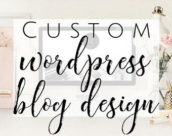 Custom WordPress Blog Design - Custom Responsive WordPress Theme