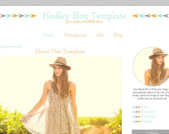 Blogger Template - Mobile Responsive Blogger Template - Premade Blog Template